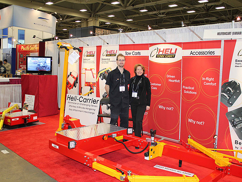 Jacob and Nathalie at Heli-Expo 2012 in Dallas, Texas