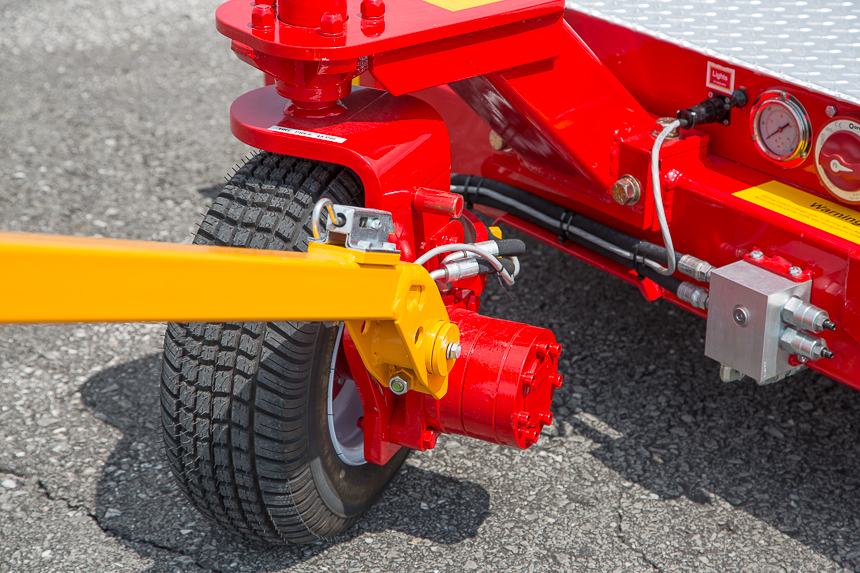 Carrier large pneumatic directional traction wheel