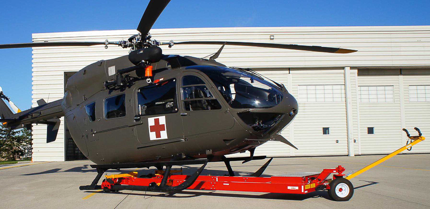 Carrier holding UH72 Lakota US NATIONAL GUARD