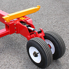 Carrier V1020 Pneumatic Support Wheels and light attachment arm