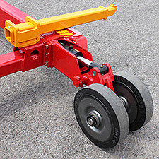 "Carrier V1022 3"" wide (2.5"" ground contact) Full Rubber Support Wheels with Heavy Duty Support Arm"
