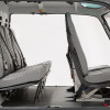Sideview<br>Rear: Individual Seats<br>Front: Crashworthy Regular Seats<br>Cover material: Vinyl Gray