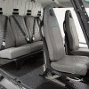 Angular View<br>Rear: Individual Seats<br>Front: Crashworthy Regular Seats<br>Cover material: Vinyl Gray