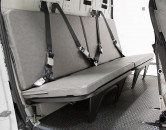 Gray Vinyl Rear Bench Flat for AS350